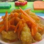 胡萝卜鸡米花的做法