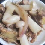 洋葱鸽子炒蘑菇