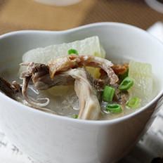 冬瓜鸭舌鸭架汤的做法