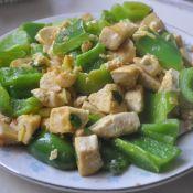 青椒油煎豆腐