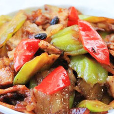 凉瓜豆豉小炒肉的做法