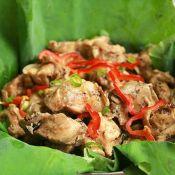 荷叶豆豉蒸鸡的做法