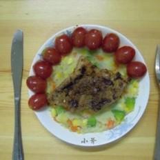 猪排大餐的做法