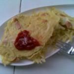 土豆丝香肠鸡蛋饼的做法