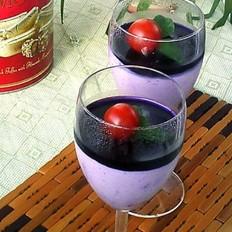 藍莓慕斯杯的做法