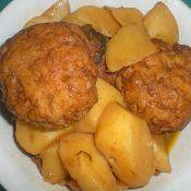 土豆烧肉丸的做法