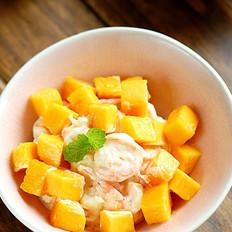 鮮蝦芒果沙拉的做法