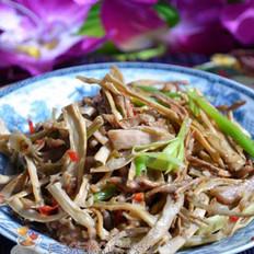 肉丝炒干笋的做法