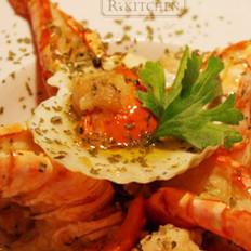 烤蝦扇貝的做法