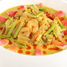 咖喱海鲜锅的做法