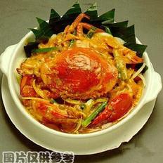 姜丝肉蟹的做法