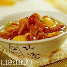 滑菇烩蛋黄