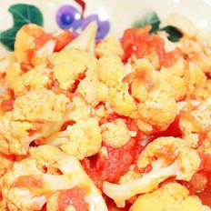 酸甜茄汁菜花的做法