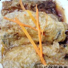 腐皮黄鱼包的做法