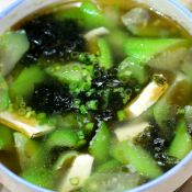 丝瓜紫菜白玉汤的做法
