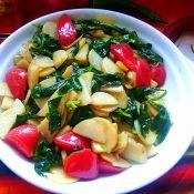 芹菜叶炒土豆片