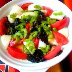 苦瓜柿子拌凉菜的做法