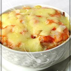 乳酪蒸虾仁的做法