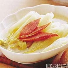 焖煮火腿白菜的做法