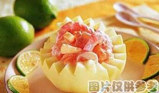 八宝酿香瓜的做法
