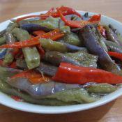 红椒炒茄子的做法