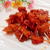 蜜汁烤鸡肉串的做法