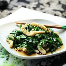 目鱼炒韭菜的做法