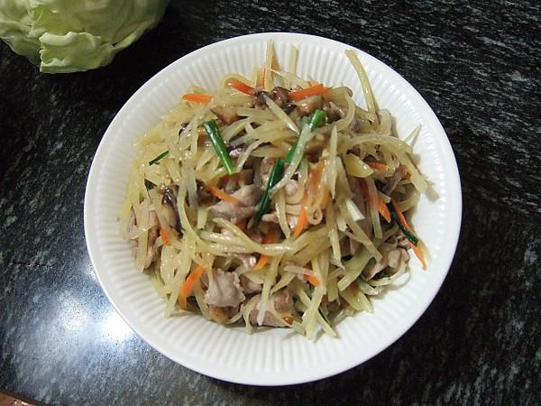 香菇包菜简笔画