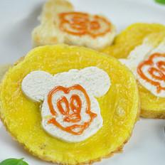 米奇馒头鸡蛋饼的做法