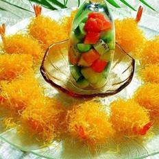 酥皮芥味虾球的做法