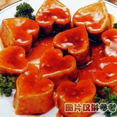烧三鲜薇菜豆腐盒的做法