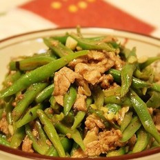 豉汁炒刀豆肉丝