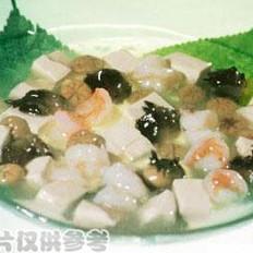 鸡腿蘑炖豆腐