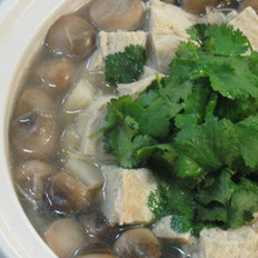 草菇烩豆腐的做法