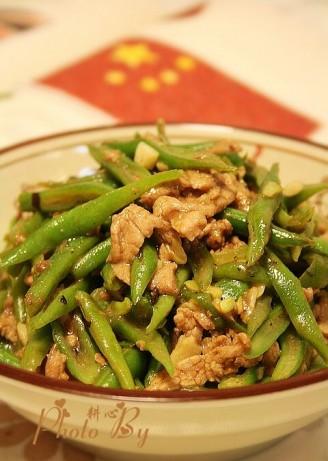 豉汁炒刀豆肉丝的做法