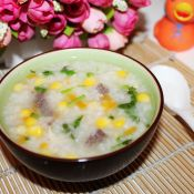 玉米牛肉粥的做法