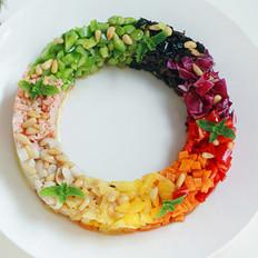 彩环沙拉的做法