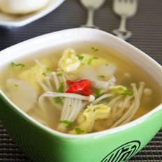 鸡蛋鲜菌汤