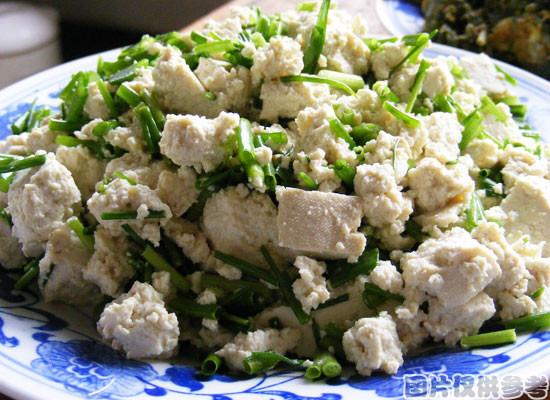 香葱老豆腐的做法