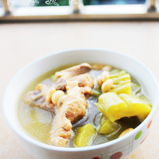 猪骨黄豆苦瓜汤的做法