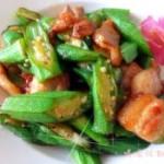 黄秋葵炒肉片