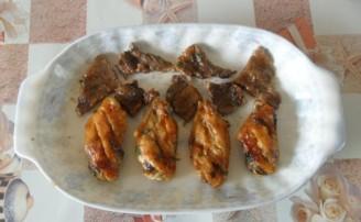 鸡翅牛肉拼盘的做法