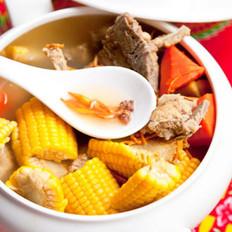 虫草玉米龙骨汤的做法