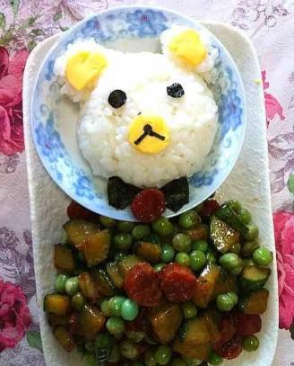 小熊饭团便当的做法