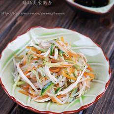 银芽黄瓜拌鸡丝的做法