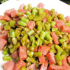 火腿酸辣豇豆