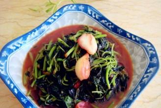 蒜头炒米苋的做法