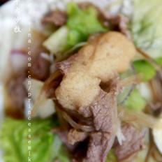 和風牛肉沙拉的做法
