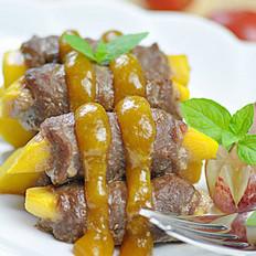 香芒牛肉卷的做法