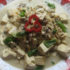 蛤蜊炒豆腐的做法